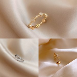 YQ14V anillos famosos anillos de anillo de nariz plata anillo individual Diamond Hoop 22G Twist Banquete Anillos japoneses y coreanos con incrustaciones de diamantes