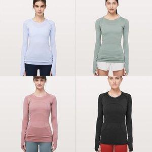women designers Coat Sleeves N669 Swiftly Tech Crew fashion yoga lu womens sports workout seamless pink camo sport S-XL g4ad#