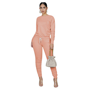 Cheap Womens tracksuits Autumn Winter Irregular Solid Women's Outfits Long Sleeve Hoodies and Long Pants Two Piece Set Fitness Tracksuit