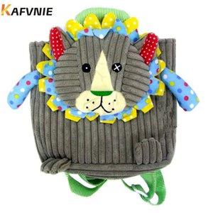 Envejecido 1-3Corduroy Backpacks Mochilas de alivio del estrés Diseño Mini Cartoon Schoolbag Bolsos de la escuela de niños Kindergarten Girl Boys Bag C0202