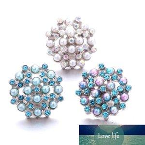 Schnappschmuck Strass Acryl Perlen Blume 18mm Ingwer Snap Button DIY Armband Halskette Schmuck machen ACC für Frauen