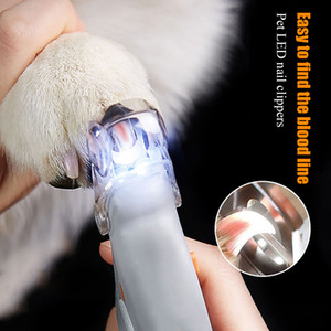 Professional Pet prego Clipper Scissors Cat Dog Pet prego Toe Garra Clippers tesoura luz LED Trimmer prego por suprimentos Animais Pet