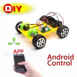 DIY Plastique Modèle Kit de téléphone portable Télécommande Toy Set Enfants Physique Science Experiment assemblé RC Cars Radio Commande 201105