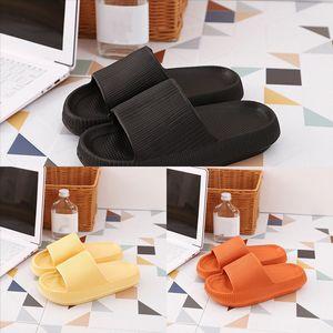 SR0Dtsandals und Hausschuhe Luxus Dicke Boden Hausschuhe Slipper Slipper Flachseitige Mode Frauen Dener Pure Paar Farbe