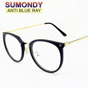 SUMONDY Anti Blue Rays Gläser für Computer-Arbeiter Mode Frame UV-Cut Brille Männer Frauen Retro Anti-Strahlung Goggles UF09 OTtX #