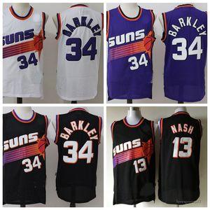 Los hombres de PhoenixSolesJersey Devin 1 Booker DeAndre 22 Ayton Charles Barkley 34 Steve Nash 13 jerseys del baloncesto 822