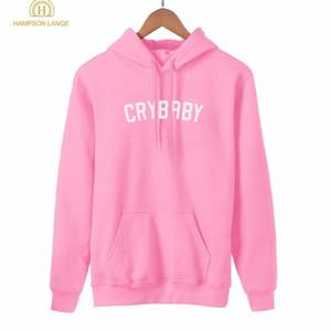 Hampson Lanqe Crybaby Cry Baby Kawaii Pink Sudadera Femenino Nuevo Estilo Primavera Otoño Mujeres Hoodie Fleece Casual Streetwear Y200610