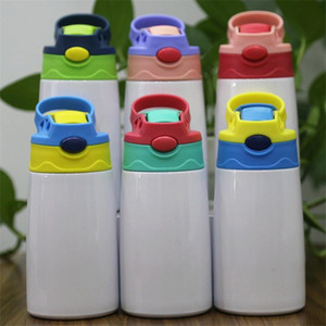 12oz Sublimation Sippy Cup Stainless Steel Straw Cup For Kid Insulated Water Bottle Bouncing Cup Free Shipping A03