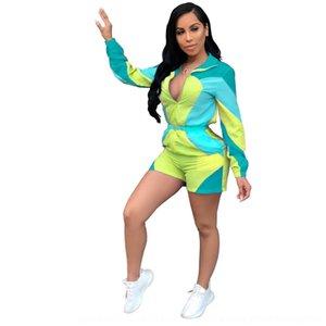 RYrys shi de las mujeres nv AJ4060 ku shi que coinciden con protector solar sueltos cortocircuitos del mono AJ4060 color de los pantalones de las mujeres nv ku pantalones de color a juego l protector solar