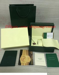 Top Luxury Green Watch Original Wooden Box Papers Card Gift Wristwatches Boxes Handbag 185mm*134mm*84mm 0.7KG For 116610 126710 116500 Watch