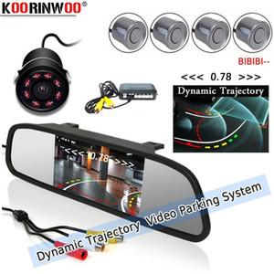 KORINWOO PARKTRONIC Dynamic Mirror Car Parking Sensor 4 أجهزة الاستشعار سيارة مراقب مع نظام الكاميرا عكس الرادار for1