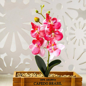 Artificial Flowers Mini Orchid Silk Flower Bouquet For Wedding Decoration Butterfly Orchid Fake Flower Home DIY Decoration