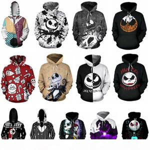 The Nightmare Before Christmas Hoodie 3D Print Sweatshirts Hoodies Cosplay Sally Jack Skellington Santa Zipper Jacket Coat