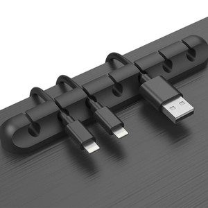 Cable Holder Silicone Cable Organizer Flexible USB Winder Management Clips Holder For Mouse Keyboard Earphone Headset