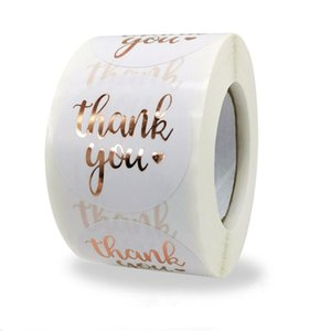 Cake Round Labels 500pcs Paper Thank Bag Sticker Wedding Candy Box Kraft Dragees You Stickers Boxes And Packaging Gift Flower Jnhfd