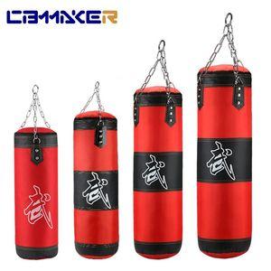 Sac de poinçonnage de boxe professionnel Entraînement Fitness avec pendage Sandbag Sandbag Adultes Salle de sport Sac de boxe vides