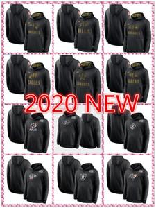 2020 Sudaderas con capucha Vikink Sudadera Salute al servicio Sideline Ravens Packerss Jefesss 49erss Patriot Cowboyss Saintss Jersey Chaquetas Hombres