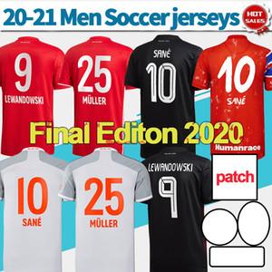 Final Lisboa 2020 Munique Soccer Jersey # 9 Lewandowski # 23 Coman 23 de agosto Camisa de futebol 20/21 uniformes de futebol personalizados