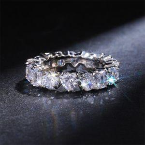 Choucong العلامة التجارية الجديدة dexule مجوهرات 925 فضة متعددة شكل الأحجار الكريمة تشيكوسلوفاكيا الماس المرأة الزفاف الاشتباك الفرقة حلقة لعشاق هدية