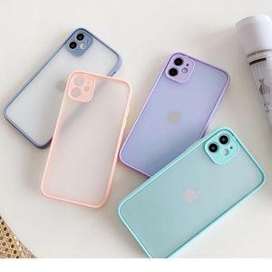 Sile Matte Bumper Phone Case For Iphone 12 11 Pro Xr X Xs Max Mini 6s 6 8 7 Plus Se2 Tra bbyMcg