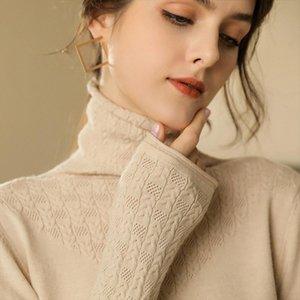 2020 Turtleneck Wheat spike Women Cashmere Sweater Women Winter Sweaters Ladies Woman Sweater Knitting Pullovers Female