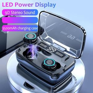 M11 3500mAh LED Bluetooth Wireless Earphones Headphones Earbuds TWS Touch Control Sport Headset Noise Cancel Earphone Headphone