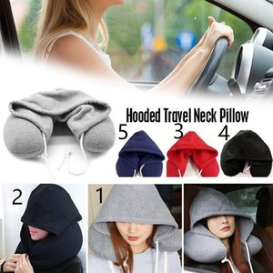 A001 5 style 20-25cm Body Neck Pillow Solid Nap Cotton Particle Pillow Soft Hooded U-pillow Textile Home Airplane Car Travel Pillow Acc