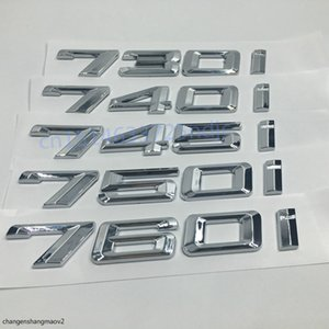 730i 740i 745i 750i 760i Car Refit Discharge Capacity Emblem Letters Rear Tailgate Stickers For BMW 7 Series