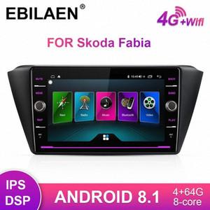 Rádio EBILAEN Car Multimedia Player Para Fabia 2015 2016 2017 2018 Android 8.1 Autoradio GPS Navigation Tape Recorder RDS Car Dvd Dvd P V1sk #