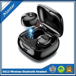 TWS XG12 Bluetooth 5.0 Écouteur STEREO SANS SANS SAND ORDBUS HIFI Sound Sport Écouteurs Casque mains libres avec micro pour téléphone portable