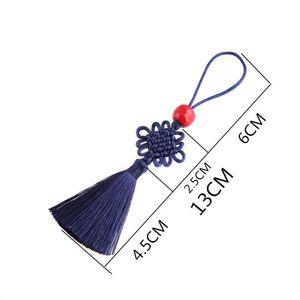 5 Unids Beads Red Mini Knot Chino Tassel DIY Accesorios de Joyería DIY Hogar Textil de Cortina Ropa Costura Macrame Decoración Colgante H BBYCYK