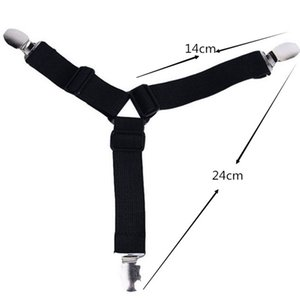 Triangle Bed Sheet Clips Straps Gripper Blanket Mattress Cover Corner Suspender Fitted Sheet Fastener Holder Practical Tool HWC2834