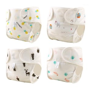 Многоразовые хлопковые детские подгузники моющиеся тканью подгузники подгузника для подвесной крышки новорожденного водонепроницаемого тренировочного труда.