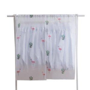Dust Clothes Cover Magic Stick 90*110cm Home Cabinet Bag PEVA Flamingo Fruit Printed Suits Jacket Hanging Hanger Dustproof New 5 5ws G2