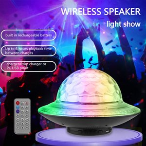 Bluetooth Wireless Stereo Speaker Disco Ball Party RGB LED Light FM USB TF Mp3 portable bluetooth Subwoofer music player laptop Speakers