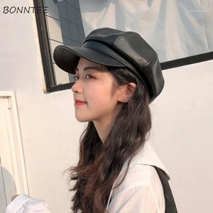 Berets Women Retro British Style Autumn Fashion Basic Vintage Ladies Beret Hats All-match Outdoor Female Caps Charm Solid Teens1