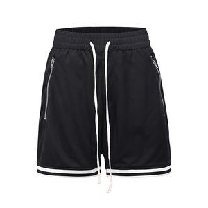 Joggers Casual Casual Respirant Casual Casual Shorts Mens Cordon Cordon Poche surdimensionnée Longueur du genou Pantalon Hip Hop Baggy Summer Short