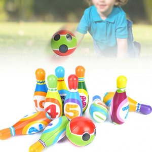 10 Pins 2 Balls Bowling Toy Play Sets Indoor Outdoor Sports Family Child Bowling Games Bowling for 3~10 years old Children Kids#203