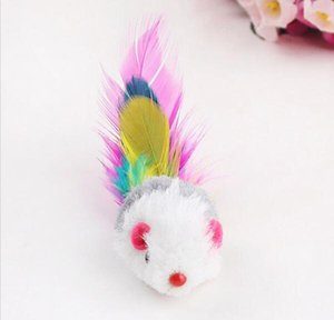 10pcs Funny Soft Fleece False Mouse Cat Toys Colorful Feather Playing Kitten T jllgRK bdebag