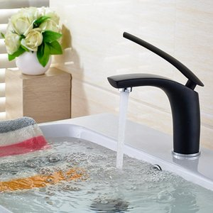 Free Shipping Bathroom Basin Faucet Black Baking Solid Brass Unique Design Sink Mixer Tap Hot and Cold Waterfall Basin Faucet