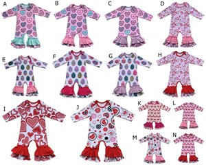 Donuts Valentines day St.Patrick's Day easter Day girls gown clothing icing ruffle baby girls romper bulk wholesale baby clothes C0126