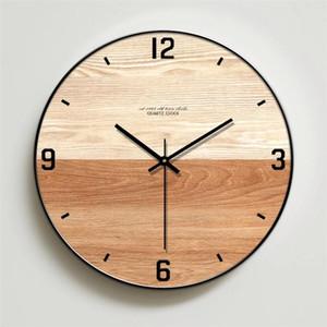 Nordic Creative Wall Clock Modern Minimalist Wooden Clocks for Bedroom Wood Wall Watch Home Living Room Decor Silent Clock