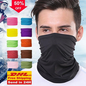 24H ship US Fashion Men Women Head Face Neck Sunshade Collar Gaiter Tube Bandana Scarf Sports Headwear Scarf Dustproof Outdoor Fishing