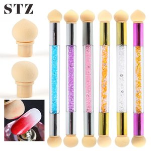 1 Set Sponges Nail Art Brush UV Gel Polish Gradient Pen Glitter Powder Ombre Dotting Tools Manicure 4 Replace Sponge Heads #1816
