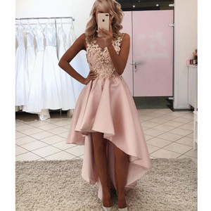 2020 Prom Dresses Red Quinceanera A-Line V Neck Short Sleeve Ruched Peplum Sashes Satin Art Deco-inspire Neck homecoming