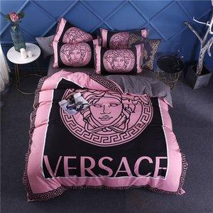 2020 rosa set di letti di design velluto spesso letto king size trapunte set coprono matrimoniale housse de couette nuovo piumino set di copertura