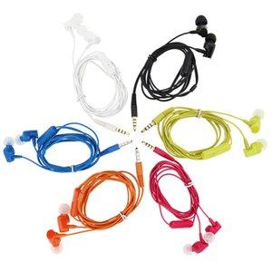 Оптовая Нормальные наушники Наушники с микрофоном Стерео Спорт шумоизоляции 3.5mm In-Ear проводной наушник для смартфонов