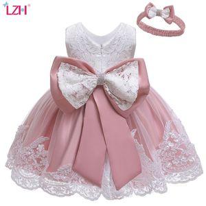 LZH invierno bebé niñas vestido recién nacido encaje princesa vestidos para bebé 1er año vestido de cumpleaños vestuario de navidad vestido de fiesta infantil q1223