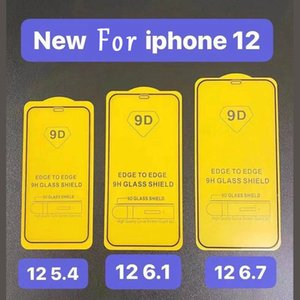 9D Full Cover 9H Tempered Glass Screen Protector For Iphone 12 Mini 11 Pro Max For XR XS MAX X 8 7 6 Plus 0.3MM Protective Anti-Cratch Film
