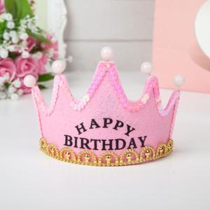 LED-Kronen-Hut Weihnachten Cosplay King Prinzessin Crown LED Happy Birthday Cap Leuchte LED Weihnachtsmütze Bunte funkelnde Kopfbedeckung EWD2500